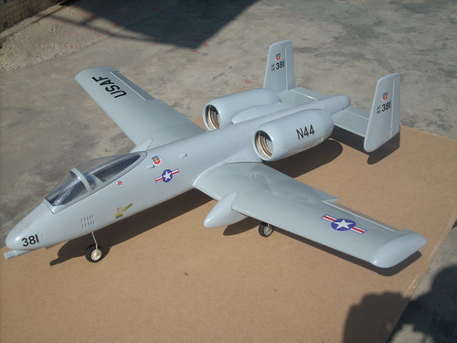 A-10 WARTHOG TWIN EDF JET GREY FANS COMBO
