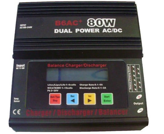 Dual power AC/DC B6AC+80w balance charger built-in AC adaptor