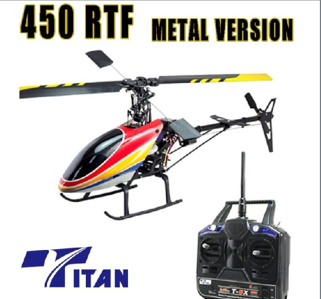 rc helicopter Titan 450 2.4ghz electronic aircraft helicopter
